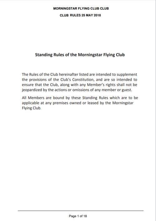 MFC Rules of the Club
